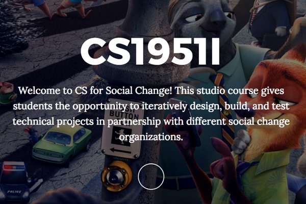 CS1951I: CS for Social Change