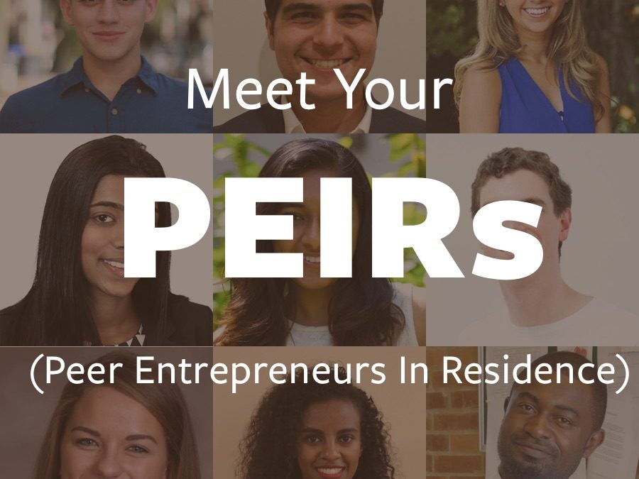 Announcing the 2018-19 Peer Entrepreneurs In Residence