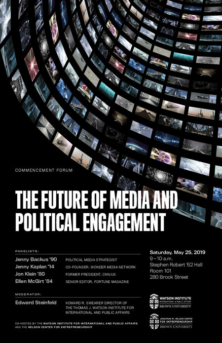 Commencement Forum ─ The Future of Media and Political